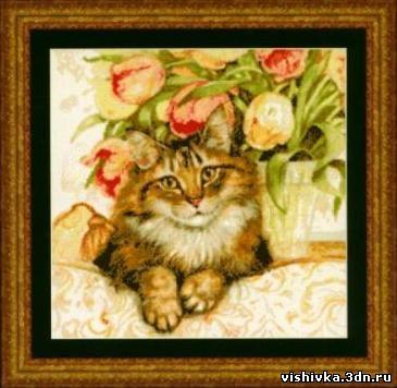 Кошка на софе
